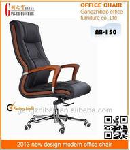 Antique italian leather wivel office chair chrome baseAB-150