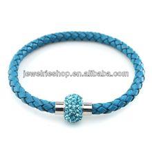 Crystal Metal Bracelet Leopard Crystal Bracelet Sideways Cross Bracelet Crystal Beads
