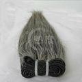 2013 moda indiana cinzento cabelo extensões naturais não transformados em linha reta cabelo virgem brasileira