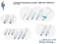 Compact Fluorescent Lamps - 8000 / 6000 Hrs