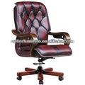 Rústico de cuero silla de oficina rf-b009