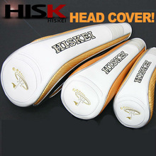 [HISKEI] golf head cover for driver, wood and hybrid clubs