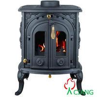 Classic 12 kw Enamel superior freestanding smokeless cast iron coal burning stoveCE certificated