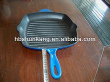 cast iron bbq pan and fajitas cookware factory