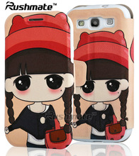 Girl Wallet Phone Pouch Mobile Phone Accessories For Samsung Galaxy S3 I9300 Beautiful Leather Cases
