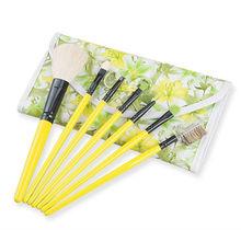 professional sunshine color 7pcs goat hair brushes makeup kits uk