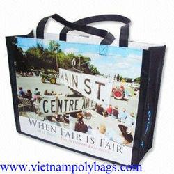 Photograph printing pp woven shopping bag