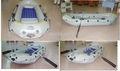 2013 hot venda de barco inflável a motor com piso de alumínio