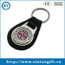 Popular custom braided leather keychain crafts supplier