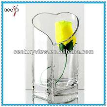 Heart-shaped vase glass murano