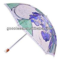 super mini classic fold umbrella purple rain
