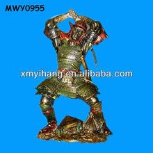 Gold destroyer powerful resin Samurai Figurines