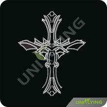 Bling garment accessories rhinestone cross