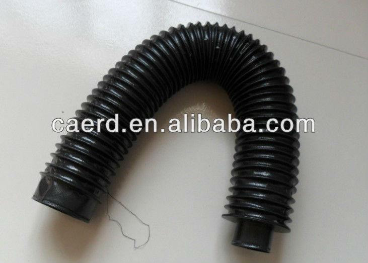 Flexible cnc machine shaft bellow cover view