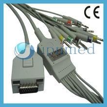 Fukuda ecg cable 12 lead banana plug medical cable with resistor