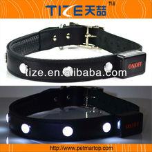 Superior quality TZ-PET8100 braided leather dog collar