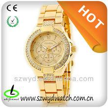 WYD-Q-222 Luxury Geneva Brand Diamond Quartz Analog Bracelet Wrist Watches , Watches Manufacturer&Supplier&Exporter