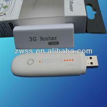 Wholesale 3G HSUPA USB Wireless Modem+ 3G Mini Wireless Ruter to Be 3G MIFI/ WiFi Router with sim card slot