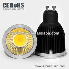 50W halogen replacement 6w GU10 COB Spot 500-550Lm 80Ra CE,RoHS