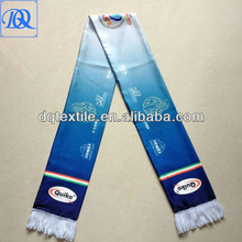 Process color Sublimated printing satin fan scarf
