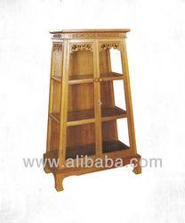 Showcase Gold Teak Wood High Quality