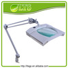 Square glass beauty magnifier LED magnfiying floor lamp