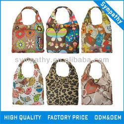 Foldable polyester shopping bag, polyester foldable bag