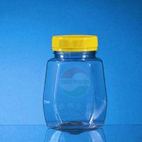 hexsagonal PET plastic cady jars Huihua Packaging