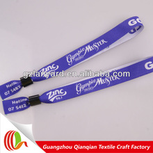 promotional festival fabric band & one time party hand band with plastic snap