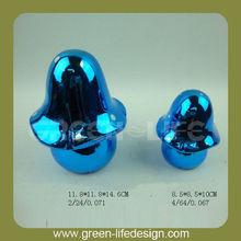 Adorable azul de cerámica de setas