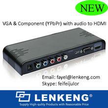 VGA +Audio to HDMI plus Component video+ R/L Audio to HDMI Converter adapter