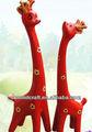la costumbre de dos piezas traje de color 3 jirafa de madera