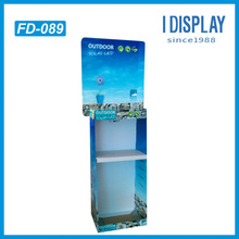 store shelving point of purchase cardboard display rack for solar LED lihgt