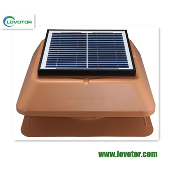 powerless roof ventilator solar vent fan with 24V DC motor and bottom price