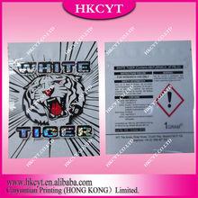 white tiger 1g/New design white tiger herbal incense bag