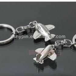 Polished Aircraft Airplane Model Metal Keychain Key Chain Ring Key Fob E1
