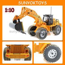 1:10 grande 6ch radiocomando escavatore elettrico; escavatori giocattolo del rc