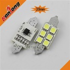 Super bright special festoon 39mm led auto light bulbs 5050 vehicle interior led lights,6SMD5050 festoon lighting