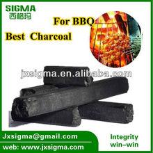 Hexagonal barbecue bbq cooking coal