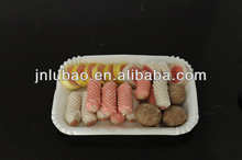 disposable square party paper tray for fish or vegetables or fruits