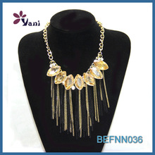 Classic custom fashion necklace necklace crystal&tassels pandent necklace wholesale