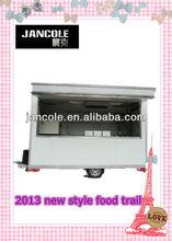 2013 new cart JC-3350 electrical gas mobile steel food vending trailer hot dog catering vans