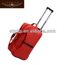 nylon travel duffel bag on wheels