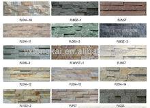 thin natural slate brick interior walls