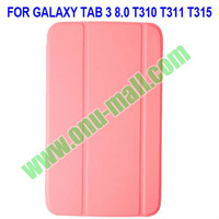 Ultrathin Leather Smart Cover for Samsung Galaxy Tab 3 8.0 T310 T311 T315 with Auto Sleep Function