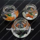 JS5448 handicrafts made of abaca,fashion decorative handicrafts,goldfish bowl handicrafts
