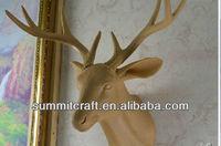 Wood color plastic deer head