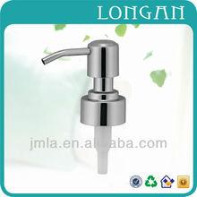 Wholesale shapely metal lotion pump dispenser