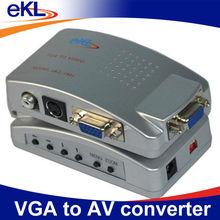 PC VGA to TV AV Composite Yellow RCA S-Video Converter Box for Laptop Notebook