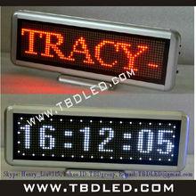 Desktop red color,runnning message display information hot sale led dispaly board